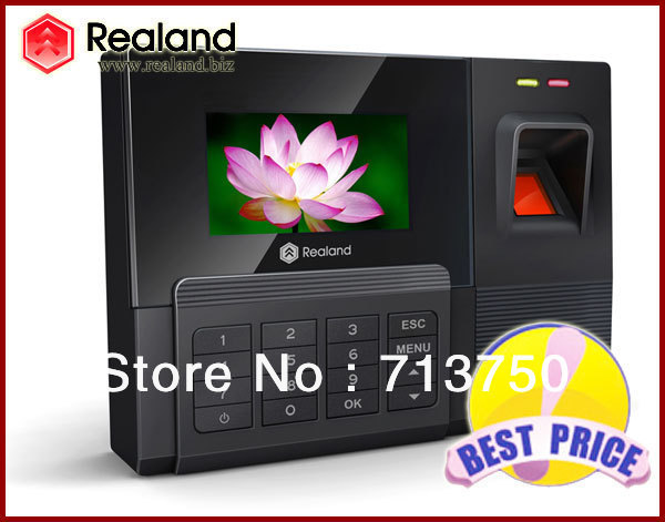 "Free shipping!! TCP/IP+RFID Card Read +USB 2.8"" Fingerprint Time attendance TFT Recorder Biometric Clock Employee Standalone"