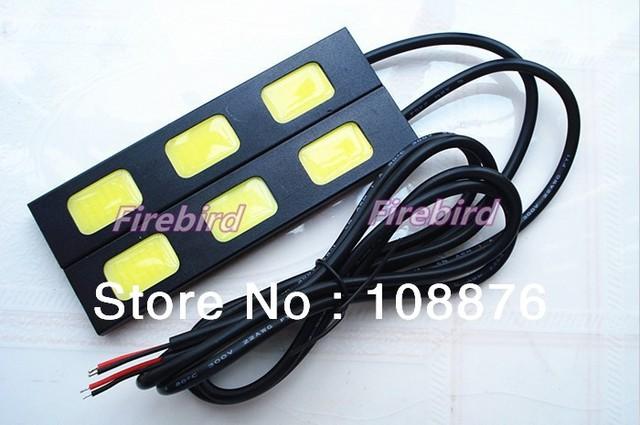 6W 3COB*2 led Daytime running lights, cold white fog lamps or reversing light, E4 waterproof, free shipping