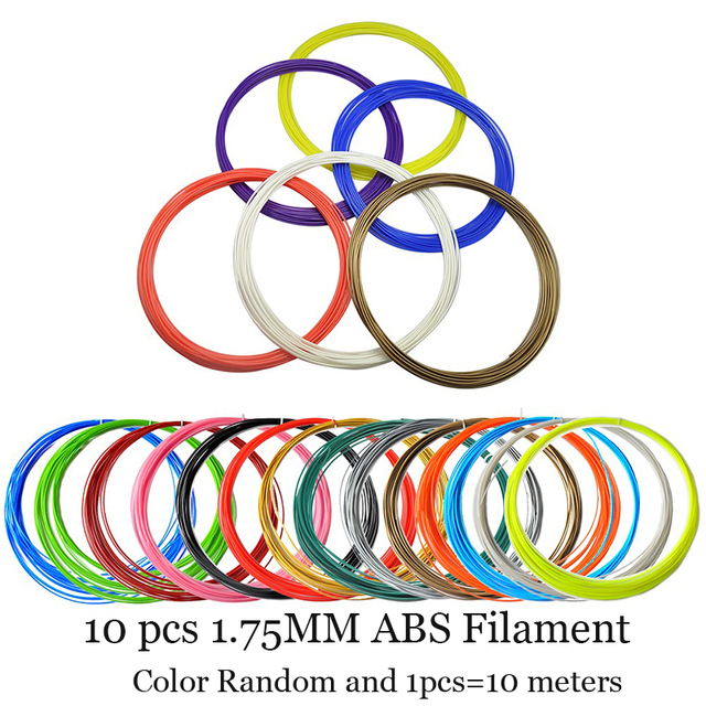 100 М 10 цветов 1.75 ММ НОАК Накаливания Для 3D Печать Ручка Темы Пластиковые Расходные Материалы для Принтера Дети Дети Подарок