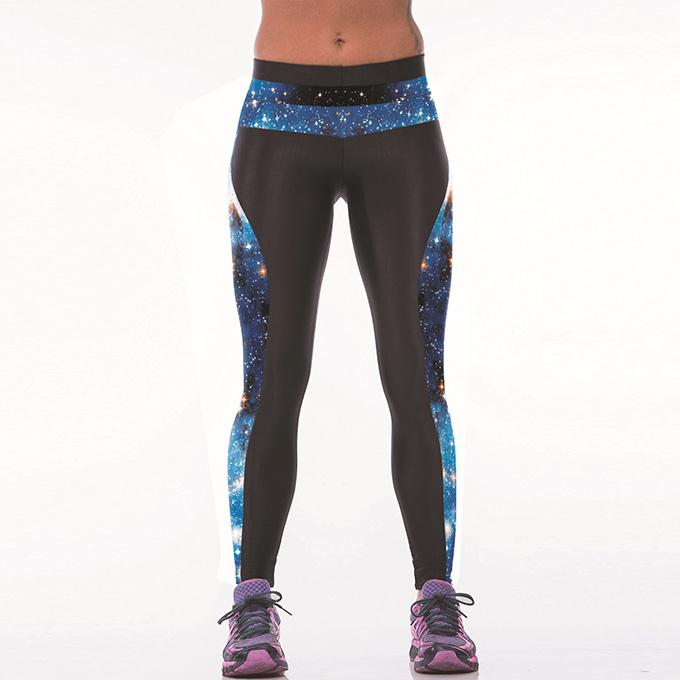 Women New Arrival Fitness Galaxy Printed Long Leggings Trousers Good Selling Stylish Yoga Pants One Size(China (Mainland))