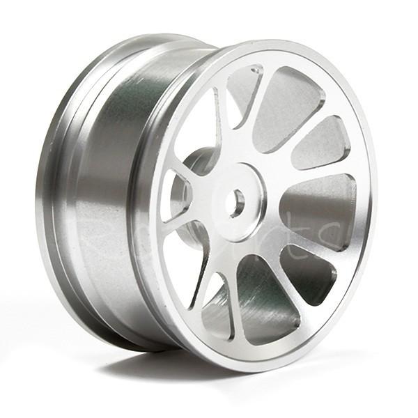 4pcs RC 1:10 Flat Car 10 Spoke Wheel Rims Aluminum alloy(China (Mainland))