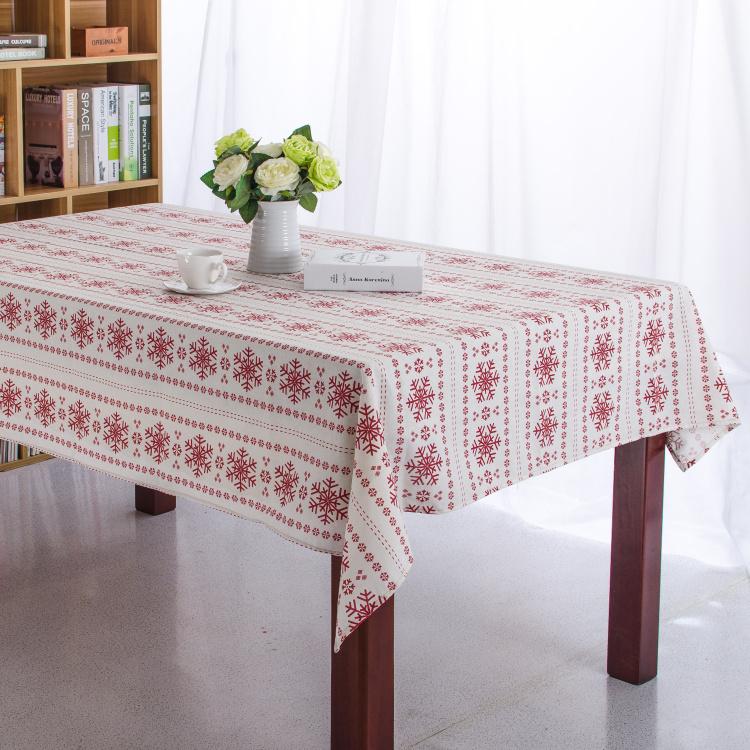 100% Cotton Table Cloth Snowflake High Quality Tablecloth Table Cover manteles para mesa Free Shipping(China (Mainland))