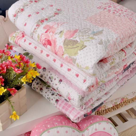 100% cotton air conditioner Quilt Printed summer Quilt Queen 200*230cm Free Shipping(China (Mainland))