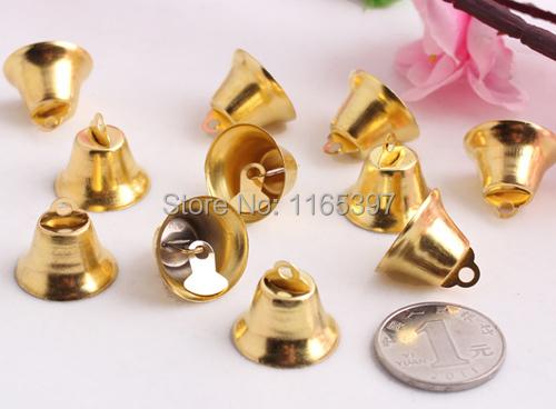 20mm 48pcs iron church bell Christmas decoration bells polish gold silver festive supplies Christmas cracker DIY crafts(China (Mainland))