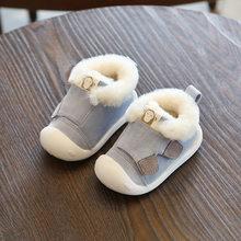חדש חורף תינוק נעליים ראשון הליכונים ילד החלקה ילדי מגפי נעלי יילוד תינוקת קטיפה חמים תינוקות רך בלעדי סניקרס(China)