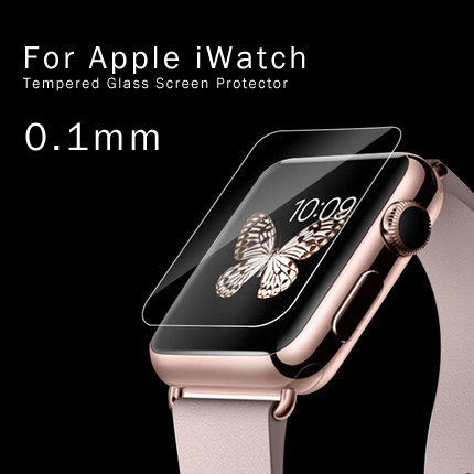 0.2mm 2.5D 9H High Quality Tempered Glass Premium Real Film Screen Protector for iwatch 38mm With Retail Package(China (Mainland))