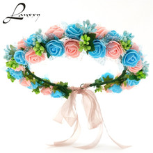 Buy Lanxxy New Women Wedding Bridal Hair Bands Flowers Hair Accessories Floral Crown Girls Headband Headwear Fashion Hairband for $4.76 in AliExpress store