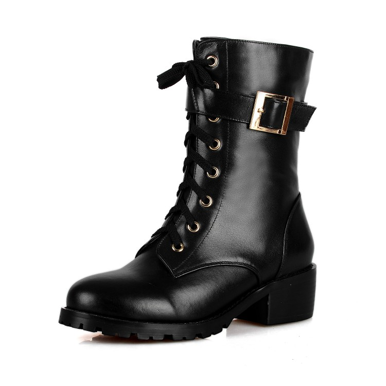 Free shipping 2014 thick heel Martin boots spring and autumn fashion motorcycle boots women's shoes ankle boots size 34-39