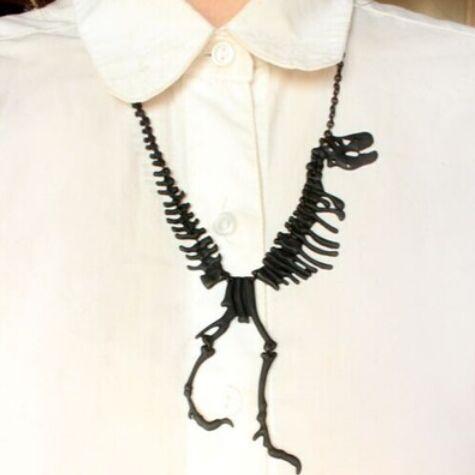 2016 Новая Мода Ювелирные Изделия Готический Скелет Динозавра Tyrannosaurus Rex Ожерелье ...