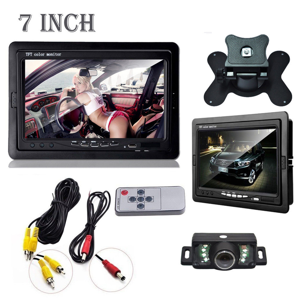 2016 New Car Rearview Monitor Rearview Backup Camera System 7 TFT LCD Screen Nightvision Car Accessories Free Shipping(China (Mainland))