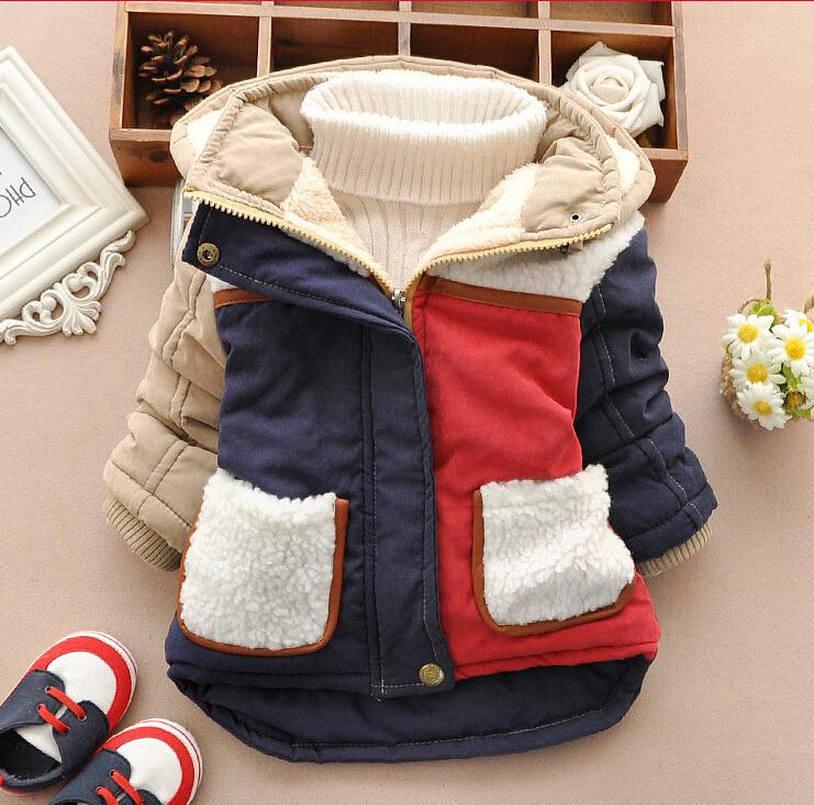 Hot 2015 ! Baby Boys Warm Jacket Coat : Child Boys Casual Snow Wear Hooded Down New Baby Winter windproof Thick Striped Outwear(China (Mainland))