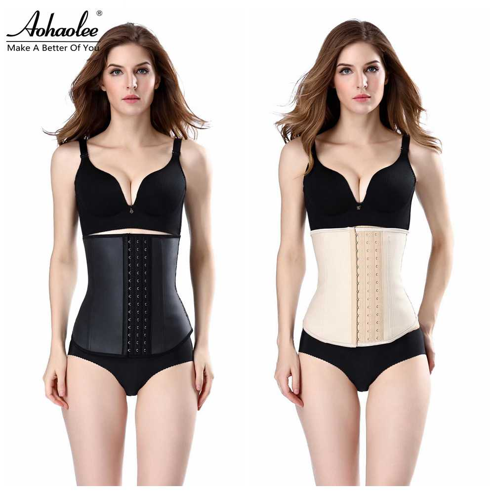 Latex Waist Cincher Trainer Corset Brazilian Body Shapers Girdle Slimmer Belts Hot Trimmer - JoinShine Flag store