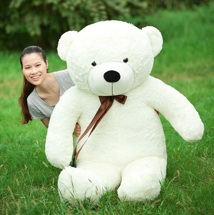 Giant teddy bear 160cm huge big stuffed plush animals brown soft hot toys for kids children baby dolls for girl valentine gift(China (Mainland))