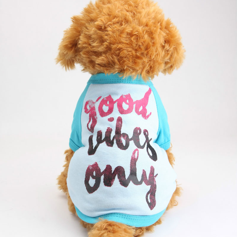 Brand Pet Dog Clothes Clothing Printed T-Shirt life Vest Costumes winter Spring Coat for Small Dogs ropa perro invierno(China (Mainland))