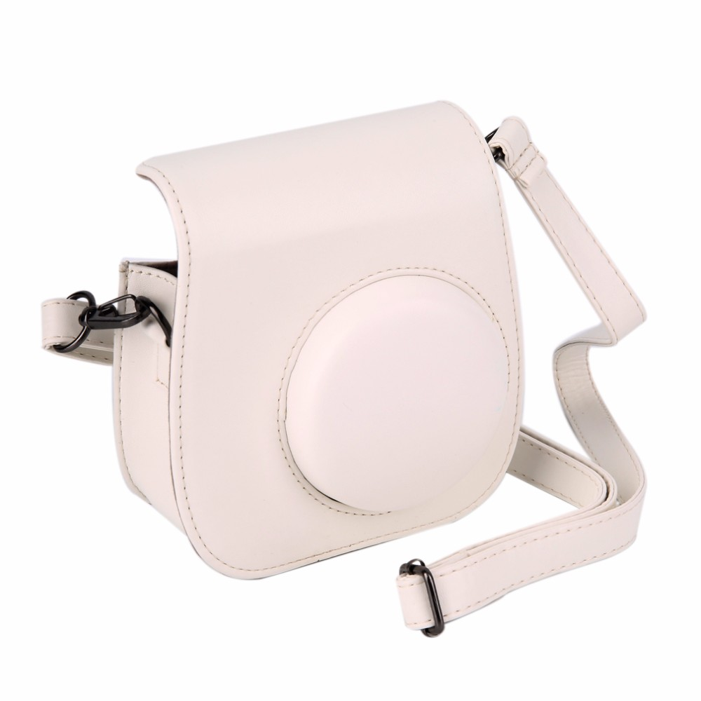 image for Leather Camera Strap Bag Case Cover Pouch Protector For Polaroid Photo