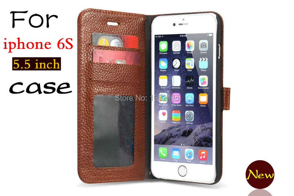 Retail wholesale flip phone Leather Case For Apple iPhone 6s plus Luxury embossed frame cover For iphone 6 plus 5.5 inch(China (Mainland))