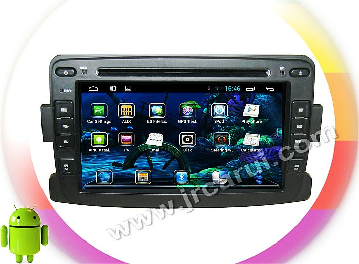 Купить Quad Core Android 4.4 игрок Автомобиля DVD GPS ДЛЯ RENAULT Duster/Logan Quad Core A9 1.6 ГГц автозвук мультимедиа автомобиля стерео