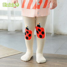 Girls Stocking Cute Ladybird Cotton Children's Tights For Boys Pantyhose Kids Girls Tights Toddler Baby Clothing For 0-3Year