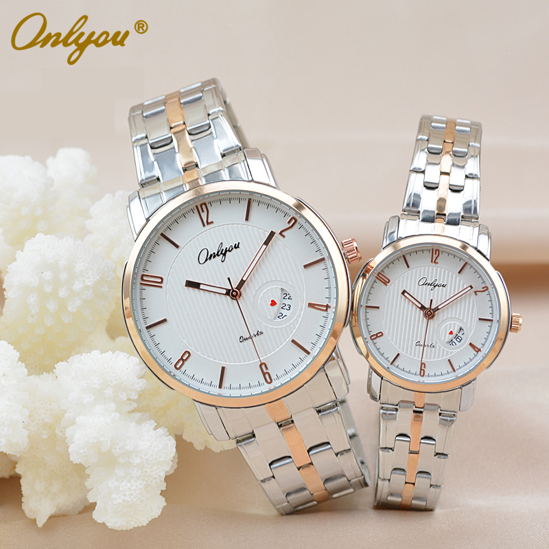 ONLYOU China Top Luxury Branded Watches For Ladies Quartz Stainless Steel 30M Waterproof Wrist Watch hodinky Men 8861(China (Mainland))