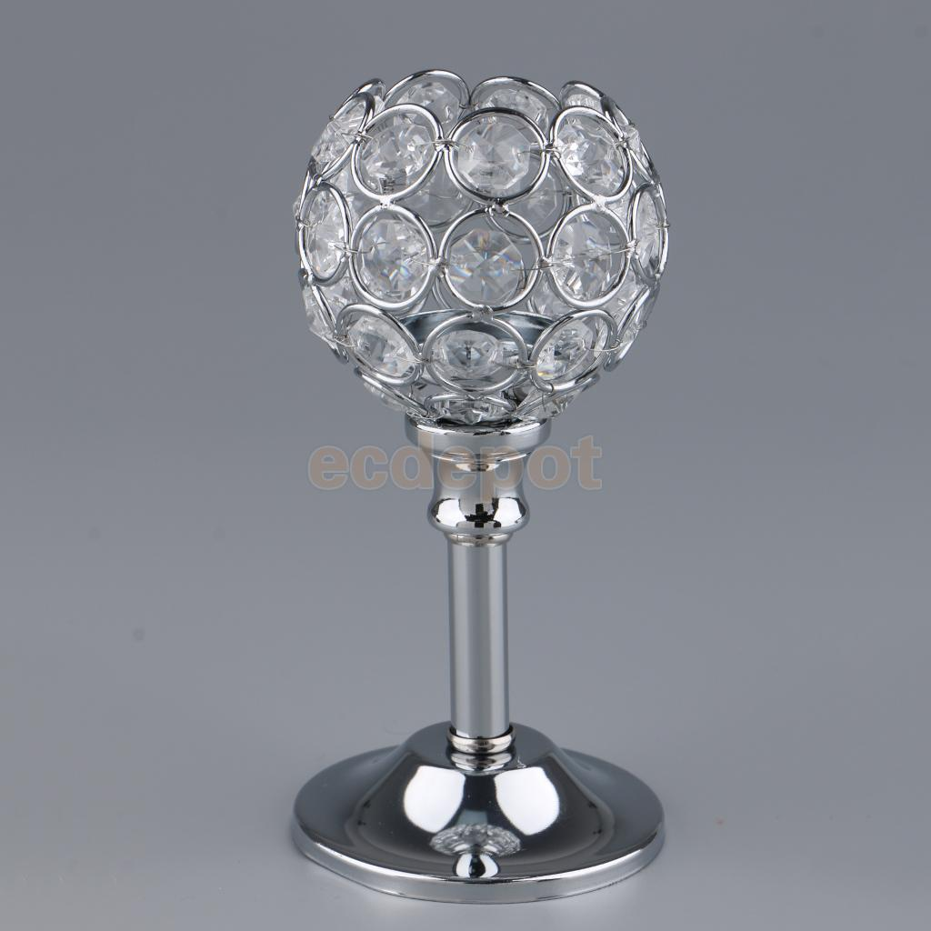 Crystal Candle Holder Tea Light Candlestick Candelabrum Wedding Centerpieces Home Cafe Pub Bar Decor