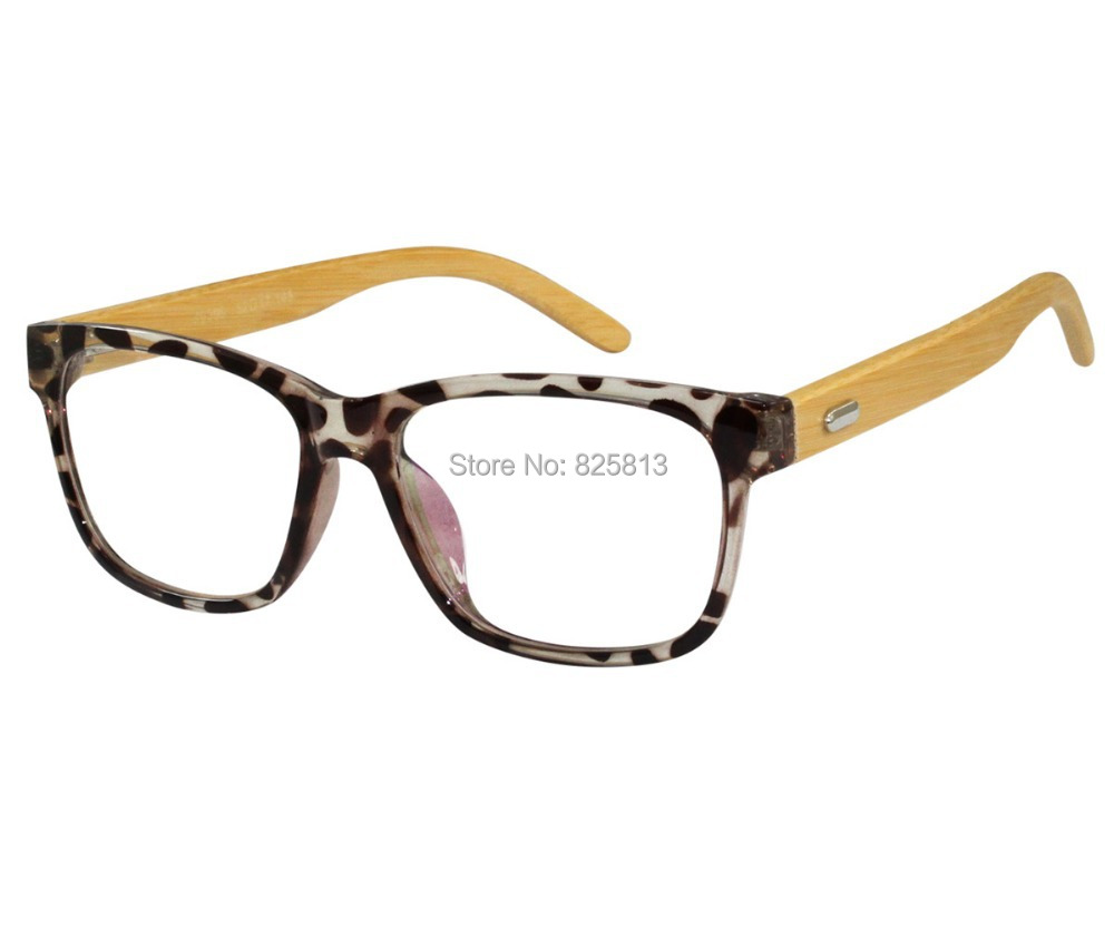FREE Shipping - Complete Prescription Eyeglasses / Reading Glasses Acetate Optical Frame bamboo temple Full Rim Customize RX(China (Mainland))