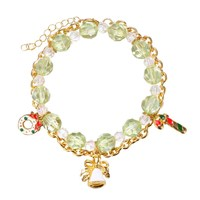 DIY Christmas Bracelets Pulseira Feminina European Charms Bracelet Bangle Bell Charms Beads Bangles Christmas Gift Women Jewelry