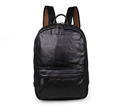 Nesitu Large Capacity Black Color Genuine Leather Women Men Backpacks Cowhide Men Travel Bags M7273