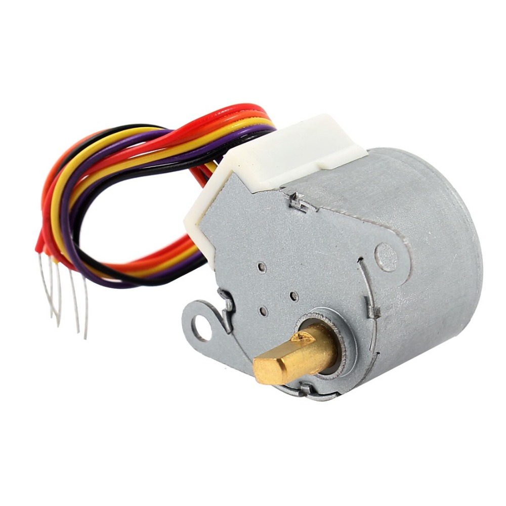 DC 12V CNC motor Reducing Stepping Stepper Motor 0.6A 10oz.in 24BYJ48 Discount 50(China (Mainland))