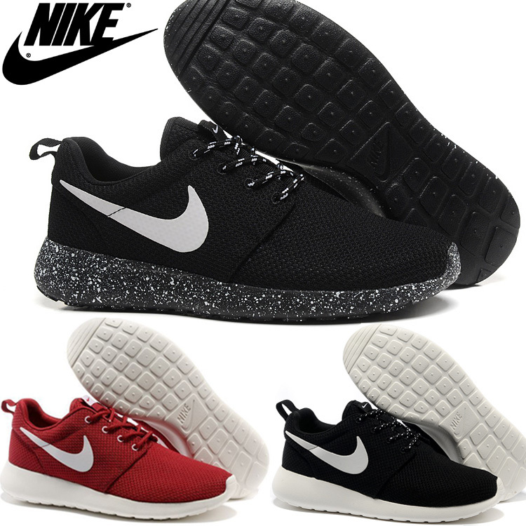 Original 2015 nikings roshing run men and women rOsherun black and white nikings roshing runing+shOe size36-45 free shipping(China (Mainland))