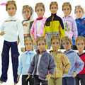 Free Transport Random three Units Cool Informal Go well with Vogue Put on Outfit Jacket Garments For Barbie BF Prince Ken Doll Greatest Present child Toy