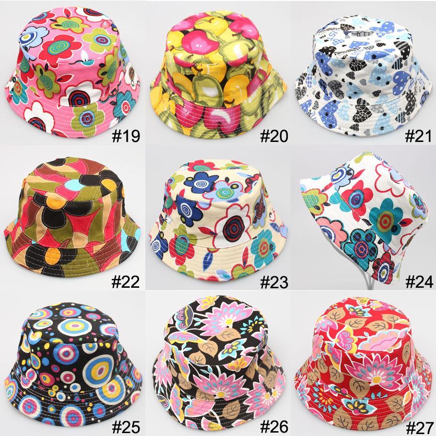 Hot Kids Girl Baby Summer Outdoor Bucket Hat Fedora Cap Sun Beach Bonnet Beanie(China (Mainland))