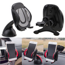 Free Shipping GPS Cell Phone MP4 etc Car Windscreen Dashboard Phone PDA GPS Mount Holder Air Vent Stand Cradle Black(China (Mainland))