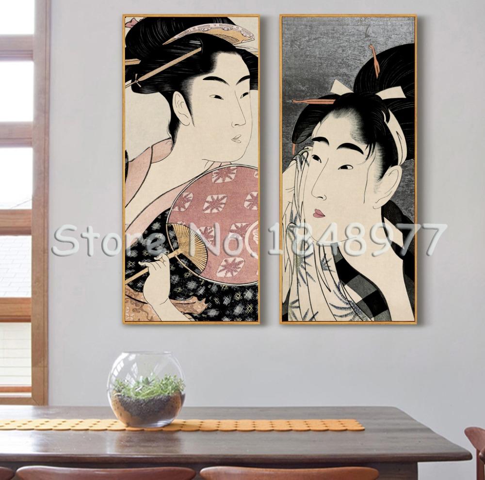 Achetez en gros japonais femme art en ligne des for Peinture chambre femme