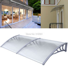 USA Local Shipping ! NEW AWNING FOR WINDOWS and DOORS 100X200CM POLYCARBONATE CLEAR HOLLOW SHEET(China (Mainland))
