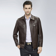 Spike ! new products classic made china Sheepskin clothing business casual coat men's lapel jacket clothes M L XL 2XL 3XL - minglu's store