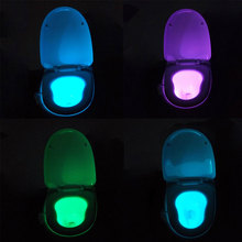 Human Motion Sensor PIR Light Dection Sensor Automatic Seat LED Lamp Motion Activated Toilet Bowl Night Light 2 Types of Colors(China (Mainland))
