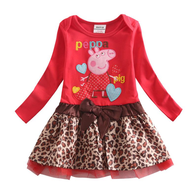 Гаджет  2015 hot sale Nova kids brand new fashion lotila style spring autumn long sleeves embroidery cartoon character girl tutu dress None Детские товары