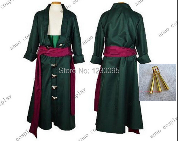 One Piece Roronoa Zoro Cosplay Costume Two years later clothes earring