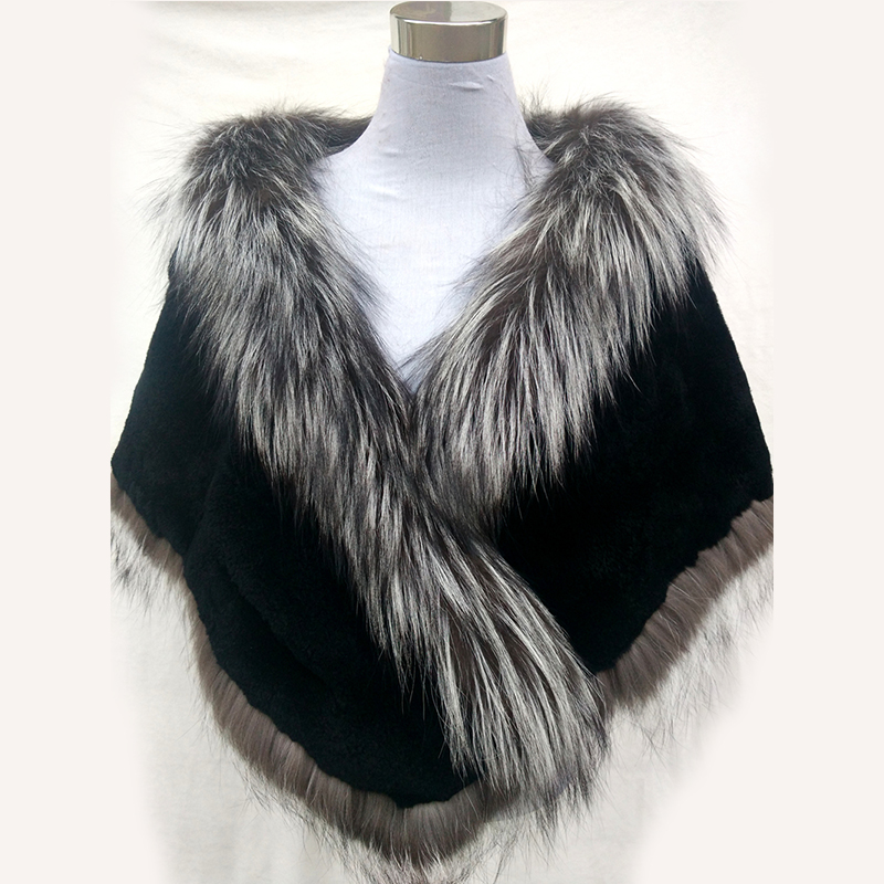 Autumn Winter Ladies' Real Natural Fox Fur Long Patchwork Warm Shawls Women Fur Pashmina Wraps Party Capes(China (Mainland))