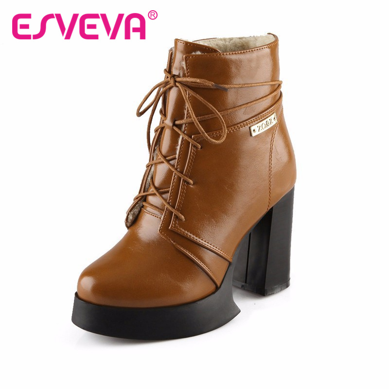 aliexpress buy esveva ankle boots high heel shoes