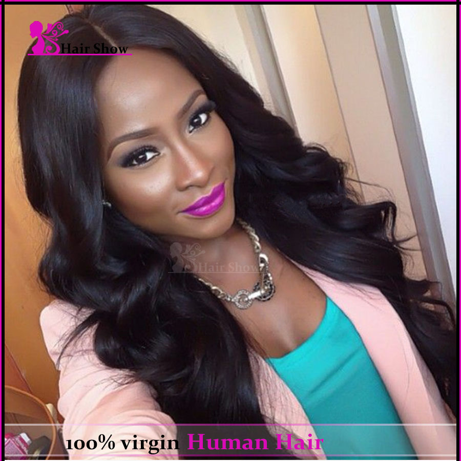 Fashion Body Wave Human Hair Wig Brazilian Full Lace Human Hair Wigs Wavy 130 Density Glueless Lace Front Wigs Natural Hairline<br>