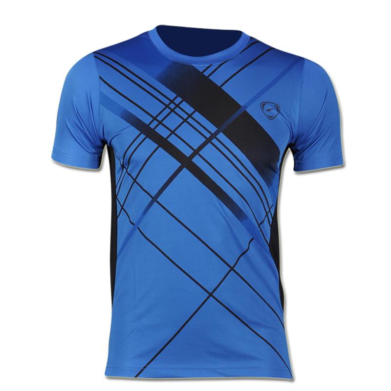 Nieuwe Collectie 2016 mannen Designer T-shirt Casual Sneldrogende Slim Fit running Sport shirts en Tops Maat Sml XL LSL133