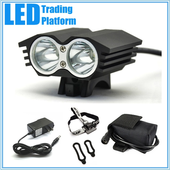 Led Cycling Bicycle Bike Light Lamp CREE XML XM-L T6 Front Lights Set+Rechargeable Battery Pack+US Plug Charger New Arrival(China (Mainland))