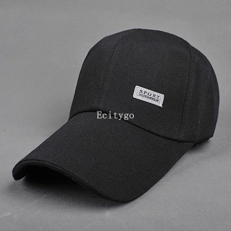 10x red white black New Fashion Unisex Plain Baseball Caps Solid Visor Adjustable Blank Cap Fitted Cotton Hats 7 Color To Choose(China (Mainland))