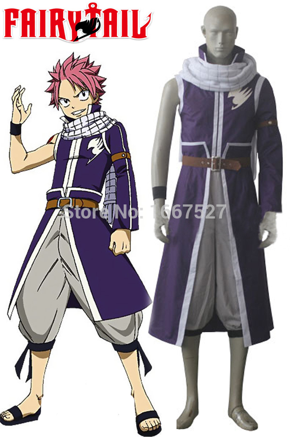 2015 New Fairy Tail A Natsu Dragneel Anime Cosplay Costume ...