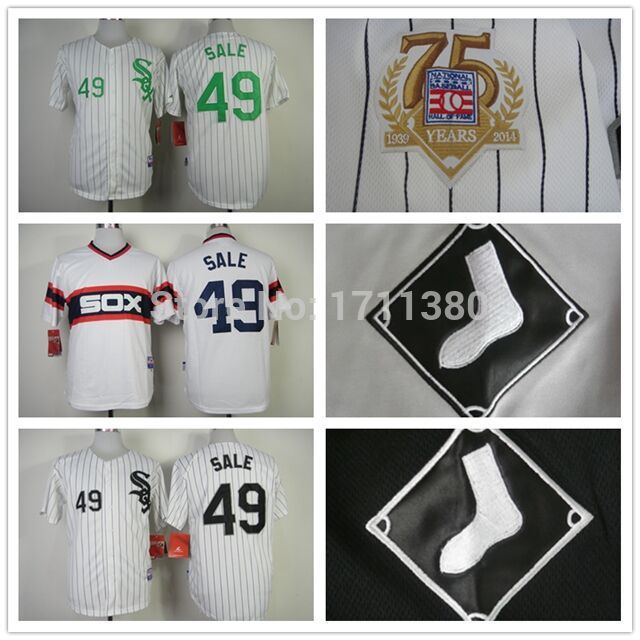 49 chris sale jersey stitched chicago white sox wholesale baseball jerseys cheap authentic buy