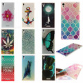 Fashion Painted Pattern TPU Silicone Soft sFor Sony Xperia T3 Case For Sony Xperia T3 M50W