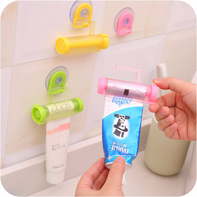 5 Colors Baby Care Grooming & Healthcare Kits Plastic Rolling Tube Squeezer Toothpaste Dispenser Bathroom Toothpaste Holder