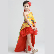 Toddler Baby Girl's Lace Chinese style Robes Dress for Photography Props with hair accessories and earrings L1187(China (Mainland))