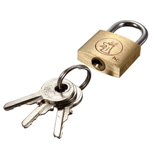 New Arrival 25mm Brass Padlock Long Shackle Travel Luggage/Suitcase/Gate Lock Security & 3 Keys Brand New(China (Mainland))